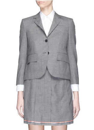 Main View - Click To Enlarge - Thom Browne - Wool cropped classic blazer