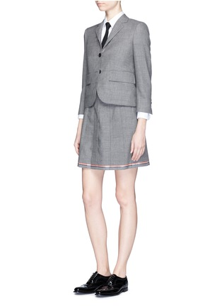 Figure View - Click To Enlarge - Thom Browne - Wool cropped classic blazer