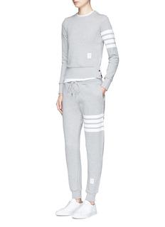 Thom BrowneStripe leg cotton sweatpants