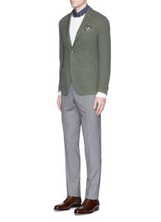 BoglioliCheck plaid slim fit wool pants
