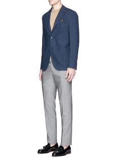 Boglioli'K-Jacket' check textured soft blazer