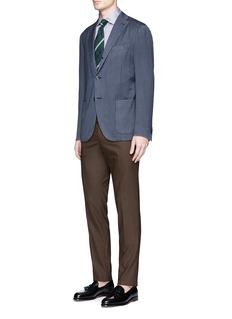Boglioli'K-Jacket' herringbone wool soft blazer