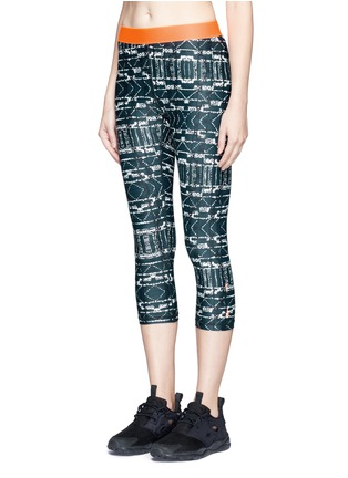 Front View - Click To Enlarge - The Upside - 'Jungle Shibori NYC' print performance leggings