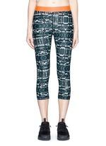 'Jungle Shibori NYC' print performance leggings