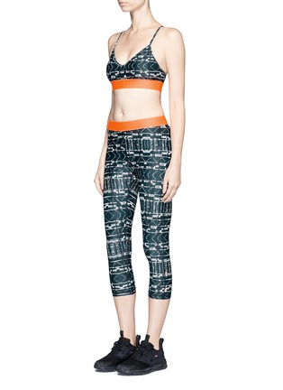 Figure View - Click To Enlarge - The Upside - 'Jungle Shibori NYC' print performance leggings