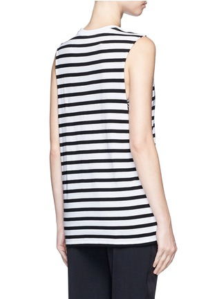 Back View - Click To Enlarge - The Upside - ''Lucky' feeder stripe cotton tank top