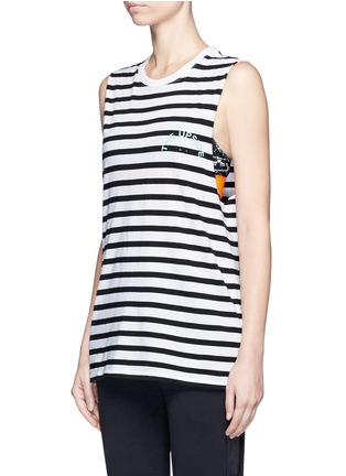 Front View - Click To Enlarge - The Upside - ''Lucky' feeder stripe cotton tank top