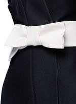 Kimono wrap wool-silk A-line dress
