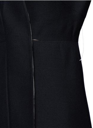 - Valentino - Kimono wrap wool-silk A-line dress