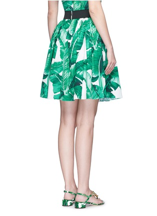 Dolce & Gabbana-Banana leaf print poplin circle skirt