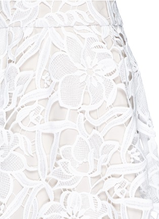 Detail View - Click To Enlarge - alice + olivia - 'Earla' floral guipure lace flare skirt