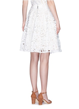 Back View - Click To Enlarge - alice + olivia - 'Earla' floral guipure lace flare skirt