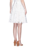 'Earla' floral guipure lace flare skirt