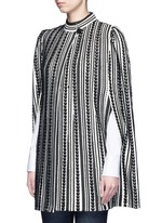 Textured knit cape