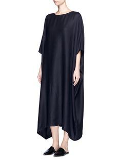 THE ROW'Nikita' textured cashmere-silk kaftan dress