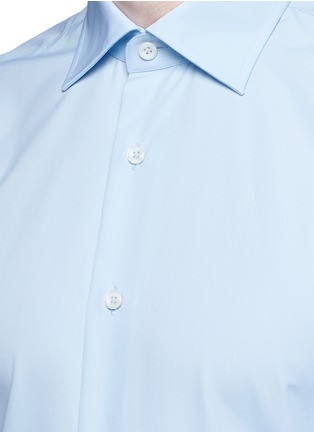 Detail View - Click To Enlarge - Canali - Cotton poplin dress shirt