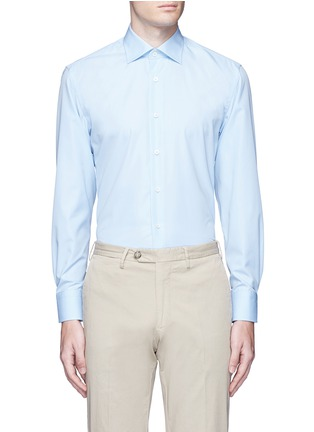 Main View - Click To Enlarge - Canali - Cotton poplin dress shirt