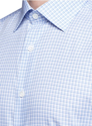 Detail View - Click To Enlarge - Canali - Check cotton poplin shirt