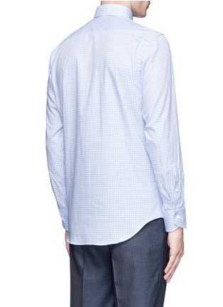 Back View - Click To Enlarge - Canali - Check cotton poplin shirt