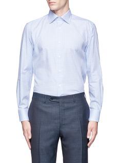 CanaliCheck cotton poplin shirt
