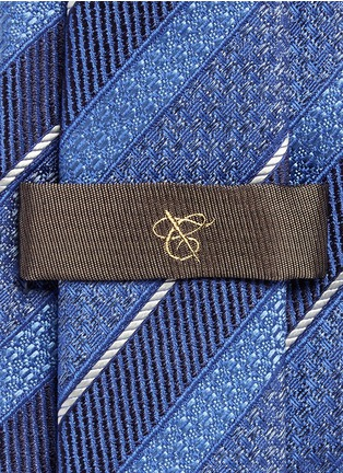 Detail View - Click To Enlarge - Canali - Multi stripe silk tie