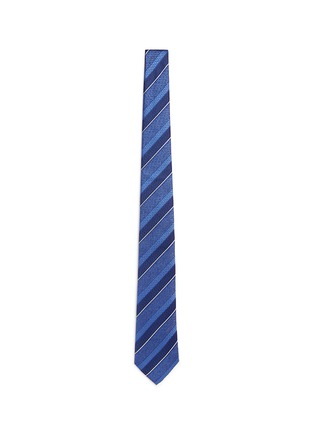 Main View - Click To Enlarge - Canali - Multi stripe silk tie