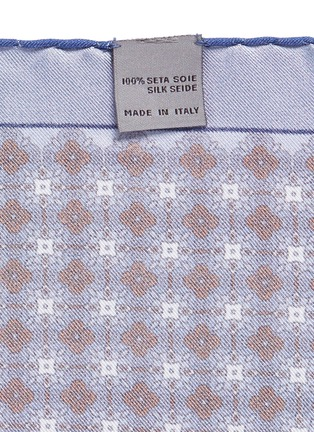 Detail View - Click To Enlarge - Canali - Floral print silk pocket square
