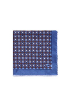 Canali Floral print silk pocket square