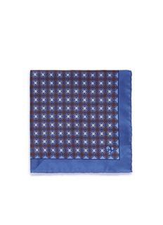 CanaliFloral print silk pocket square