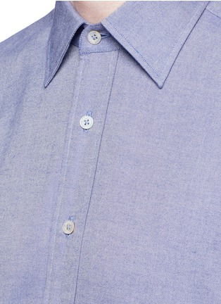 Detail View - Click To Enlarge - Canali - Double faced cotton flannel shirt