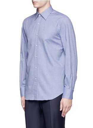Front View - Click To Enlarge - Canali - Double faced cotton flannel shirt