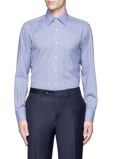 Canali Double faced cotton flannel shirt