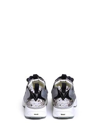 Back View - Click To Enlarge - Reebok - x Disney 'InstaPump Fury JB' snakeskin embossed sneakers