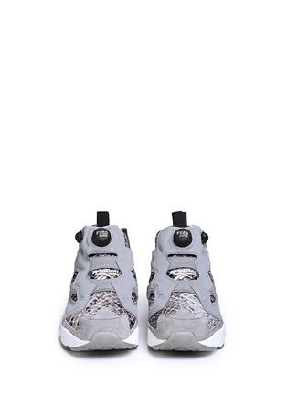 Front View - Click To Enlarge - Reebok - x Disney 'InstaPump Fury JB' snakeskin embossed sneakers