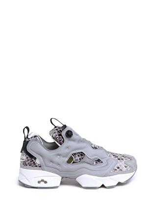 Main View - Click To Enlarge - Reebok - x Disney 'InstaPump Fury JB' snakeskin embossed sneakers