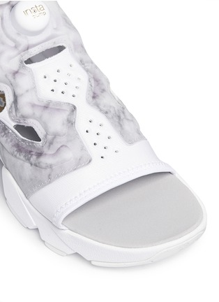 Detail View - Click To Enlarge - Reebok - 'Instapump Fury' marble print sandals
