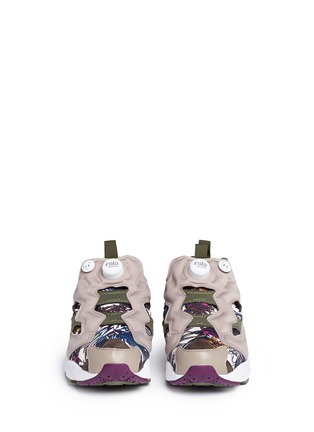 Front View - Click To Enlarge - Reebok - 'Instapump Fury Seasonal Graphic Pack' sneakers