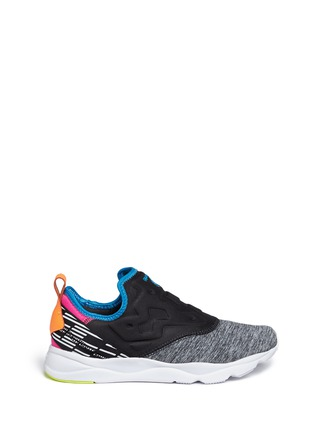 Main View - Click To Enlarge - Reebok - 'Furylite Slip-on Lux' colourblock sneakers