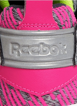 Detail View - Click To Enlarge - Reebok - 'Furylite Contemporary' colourblock stripe jersey sneakers