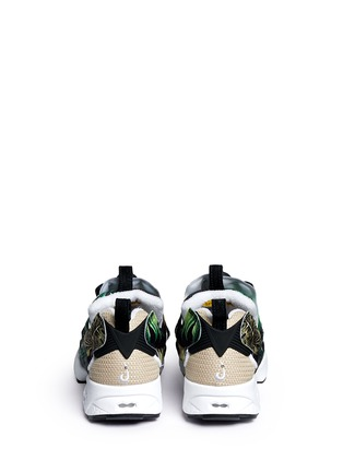 Back View - Click To Enlarge - Reebok - 'Instapump Fury JG' leaf print sneakers