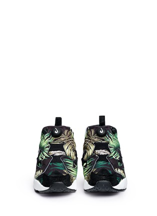 Front View - Click To Enlarge - Reebok - 'Instapump Fury JG' leaf print sneakers