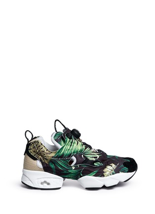 Main View - Click To Enlarge - Reebok - 'Instapump Fury JG' leaf print sneakers