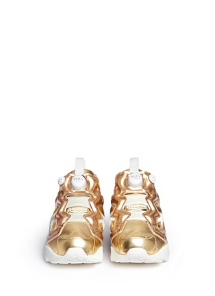 Front View - Click To Enlarge - Reebok - 'Instapump Fury Celebrate' metallic sneakers