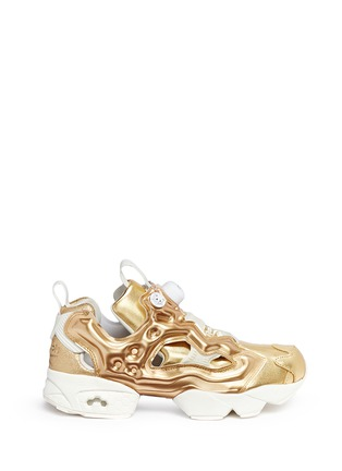 Main View - Click To Enlarge - Reebok - 'Instapump Fury Celebrate' metallic sneakers