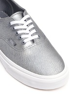 'Authentic Decon' unisex metallic leather sneakers