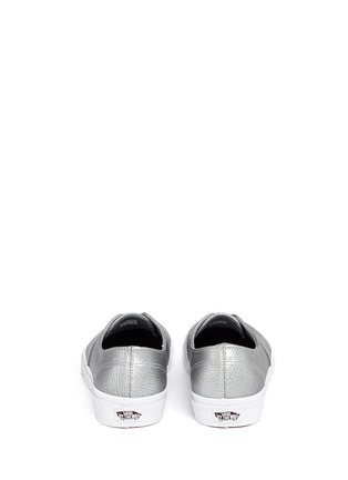Back View - Click To Enlarge - Vans - 'Authentic Decon' metallic leather sneakers