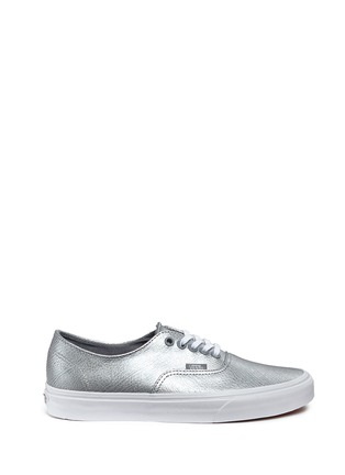 Main View - Click To Enlarge - Vans - 'Authentic Decon' metallic leather sneakers