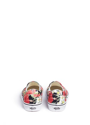 Back View - Click To Enlarge - Vans - 'Classic' floral print canvas slip-ons