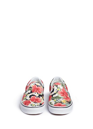Front View - Click To Enlarge - Vans - 'Classic' floral print canvas slip-ons