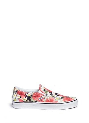 Main View - Click To Enlarge - Vans - 'Classic' floral print canvas slip-ons